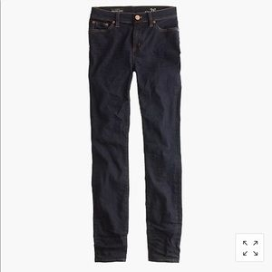 "J Crew 9"" High-Rise Toothpick Jean in Resin Wash"